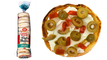 Country Hearth Veggie Cream CHeese and Olives English Muffin